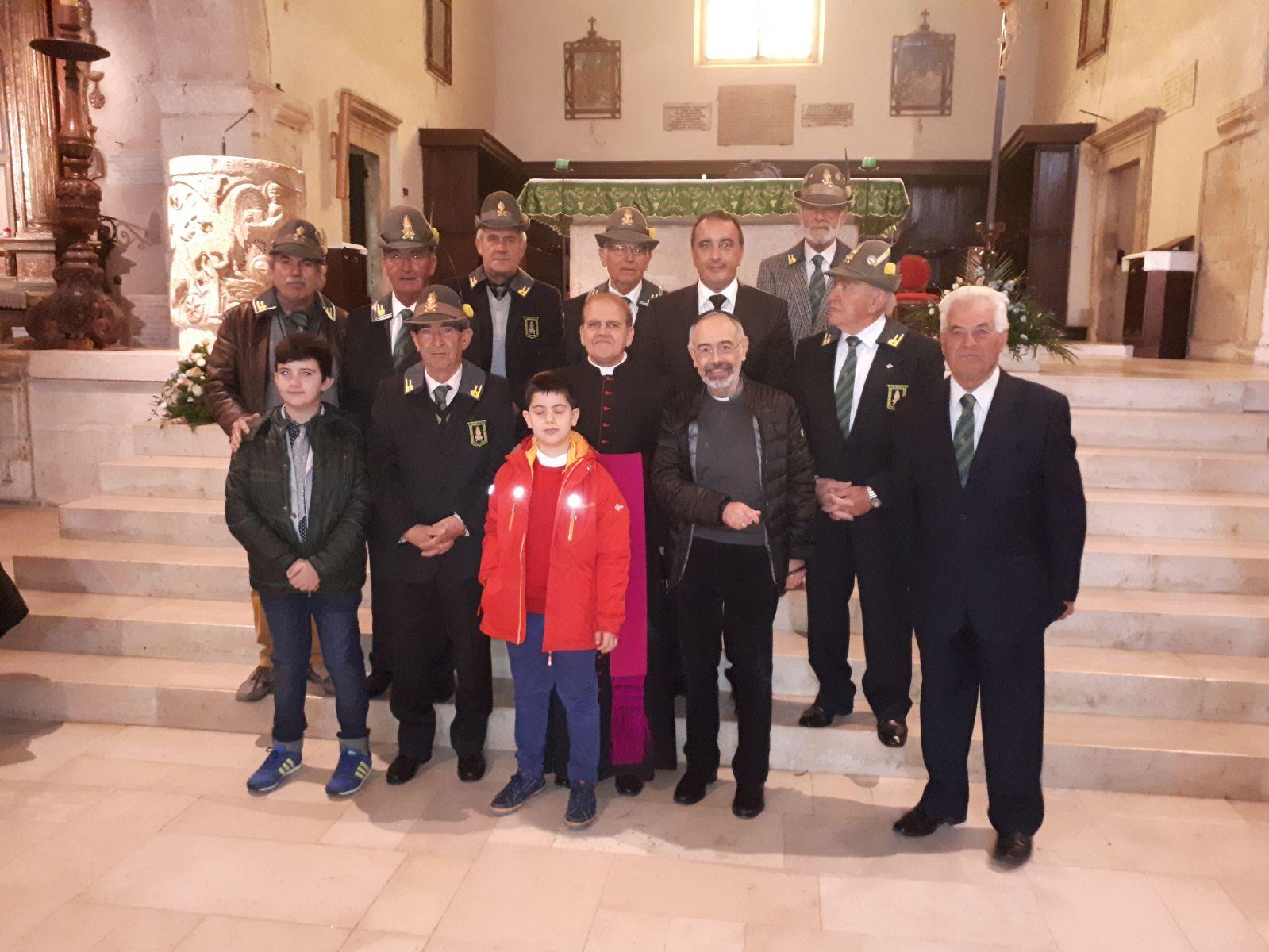 Trasacco: Mons. Gabriele Teti Celebra Santa Messa presieduta dall'Associazione Nazionale Finanzieri D'Italia