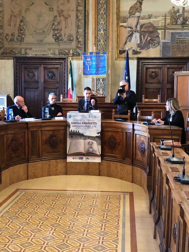 """Presentato in Comune il primo premio letterario """"Davide Andreetti"""""""
