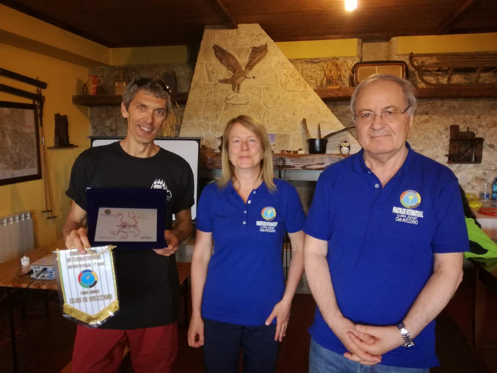 Il Panathlon Club Avezzano Premia Pierluigi Taccone