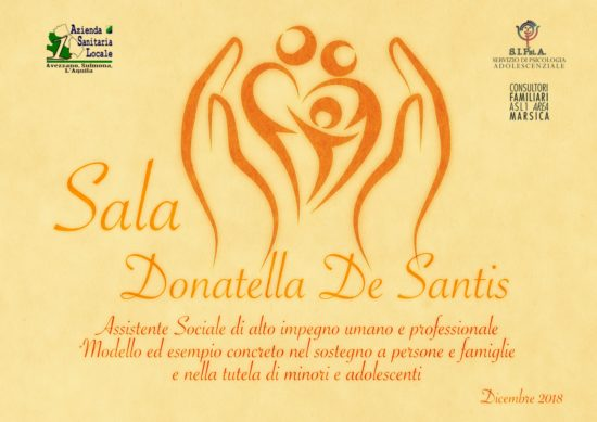 Una sala del Sipsia intitolata a Donatella De Santis