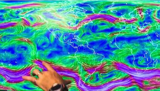 La Corrente a Getto attraversa l'Equatore - Un evento meteorologico mai avvenuto