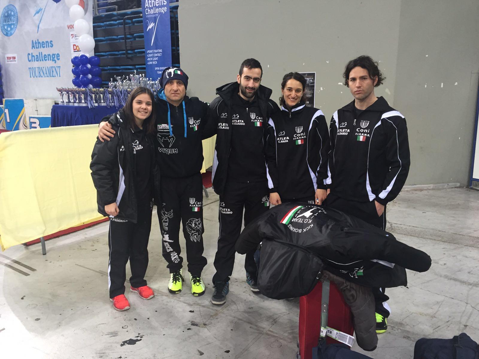 All' Olympic Arena di Atene è doppio podio per la KO Team KickBoxing Trasacco