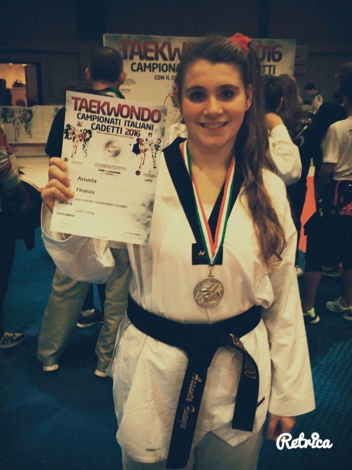 Taekwondo, a Celano Assunta Finanza diventa vice campionessa italiana