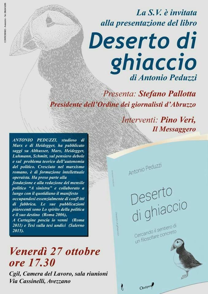 """""""Deserto di ghiaccio"""", l'ultima opera del professor Antonio Peduzzi"""