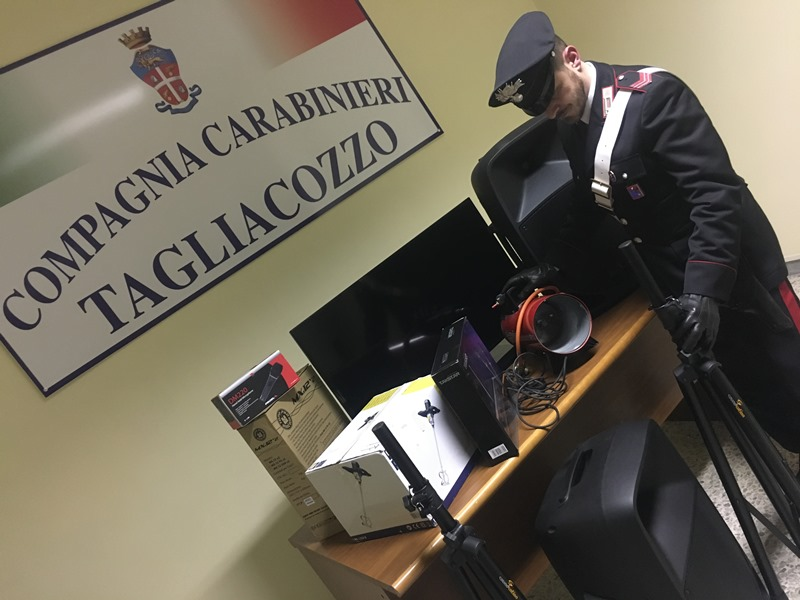 """Tagliacozzo: servizio straordinario di controllo del territorio denominato """"Periferie Sicure"""""""