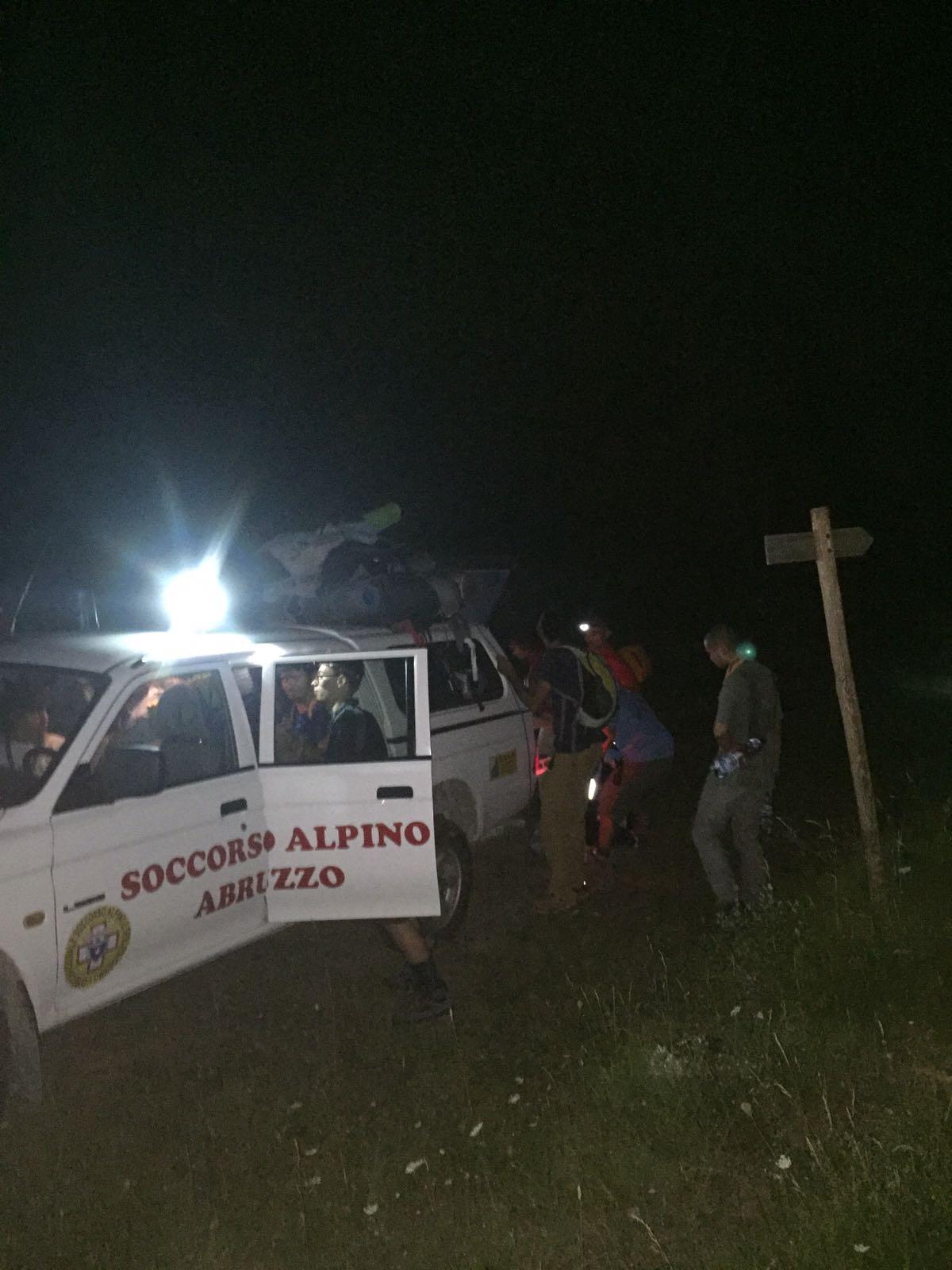Si perdono nella notte: soccorsi 11 scout