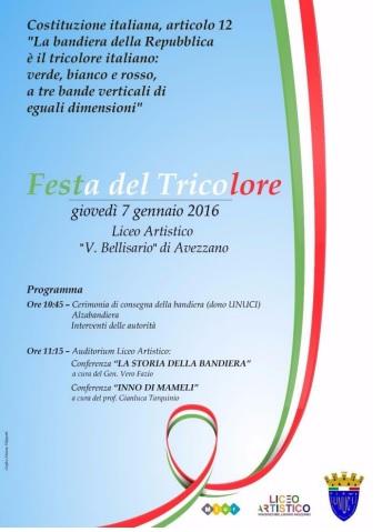 Festa tricolore al liceo artistico Vincenzo Bellisario