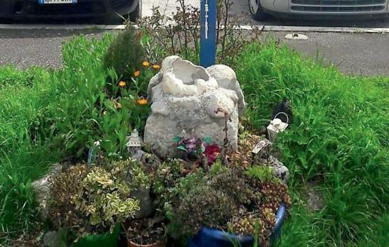 Avezzano: rubata la statua della Madonnina di Medjugorje nel parco di via La Malfa