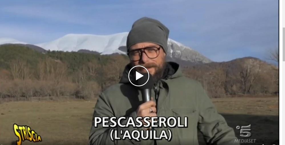 Un depuratore nel Parco D'Abruzzo. Striscia la Notizia a Pescasseroli