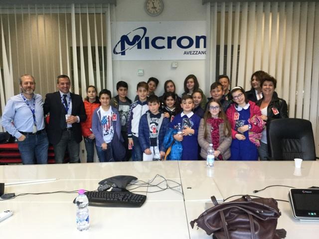 """Micron adotta il progetto di robotica dell' IC """"Collodi-Marini"""""""