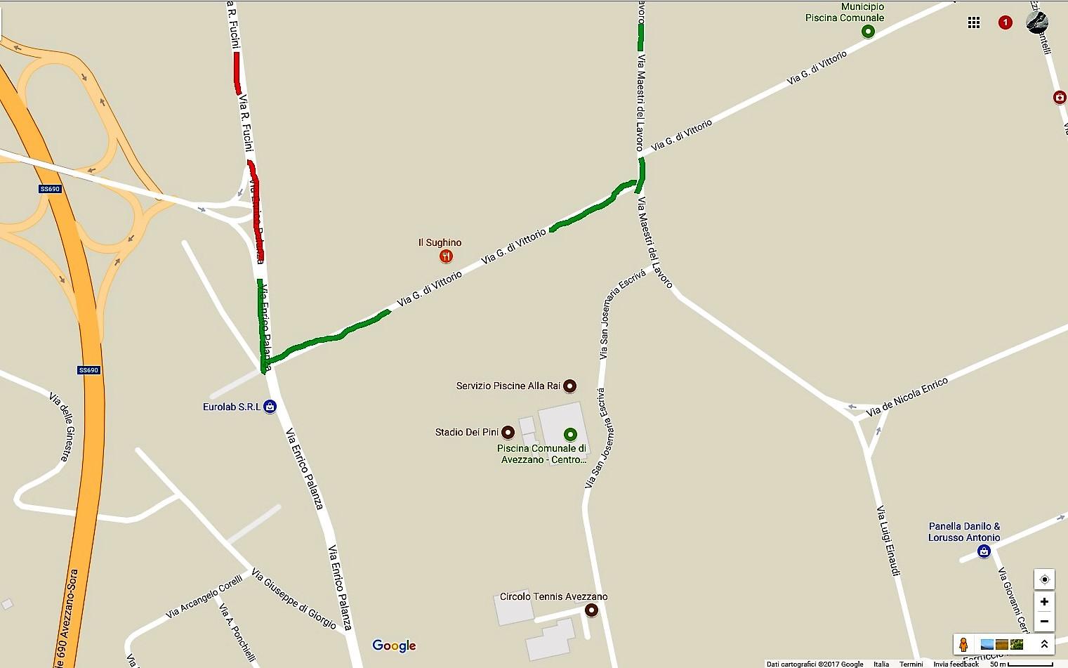 Avezzano, lunedì 17 luglio interdizione al traffico su via Fucini