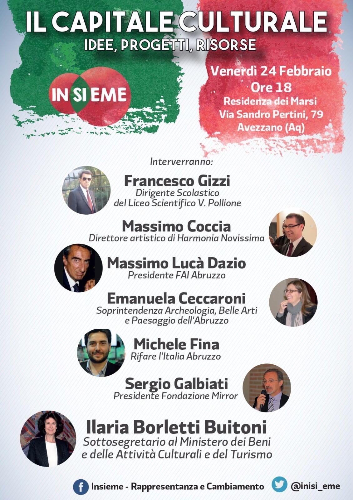 Progetto Ecumene, ad Avezzano arriva l'onorevole Buitoni per discutere di scuola, lavoro e cultura