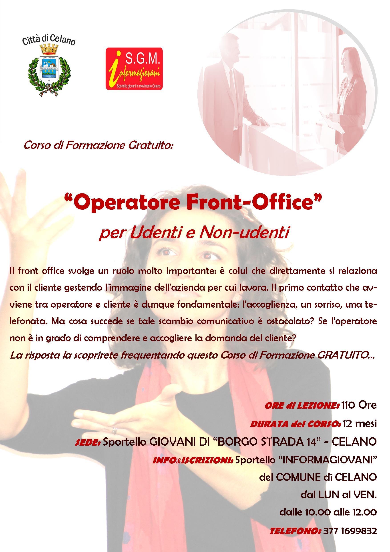 Celano, al via il Corso di formazione gratuito per operatore front-office per udenti e non