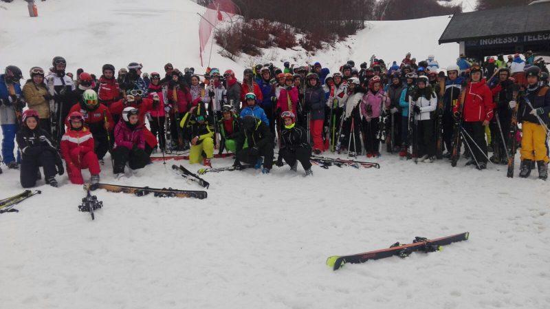 Il Liceo Sportivo di Amatrice sulle nevi di Ovindoli