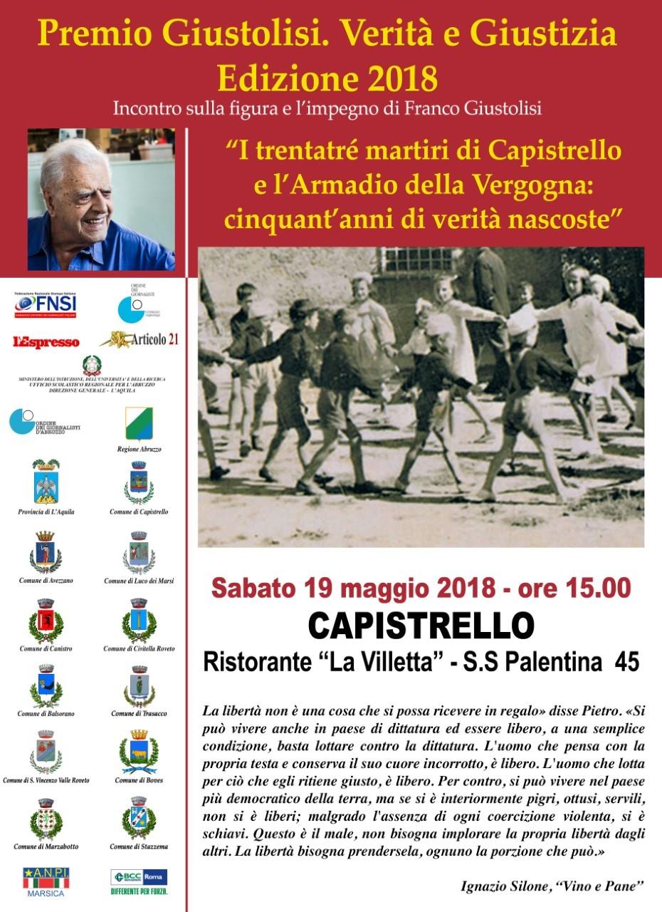 Capistrello presenta la quarta edizione del Premio Giustolisi