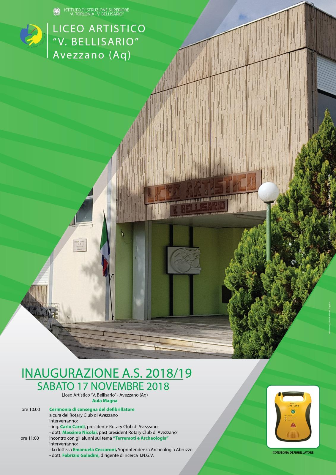 Avezzano, evento di inaugurazione a.s. 20018/19 al Liceo Artistico Bellisario