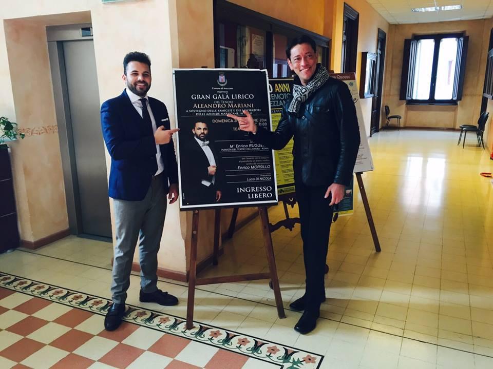 Il tenore Aleandro Mariani e l'Ensamble Santa Cecilia al Parco Ex Arssa con la conduzione del presentatore Luca Di Nicola per la Settimana Marsicana