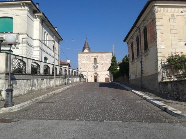 Il centro storico di Magliano nella Granfondo Mtb-Memorial Tiziano Masci