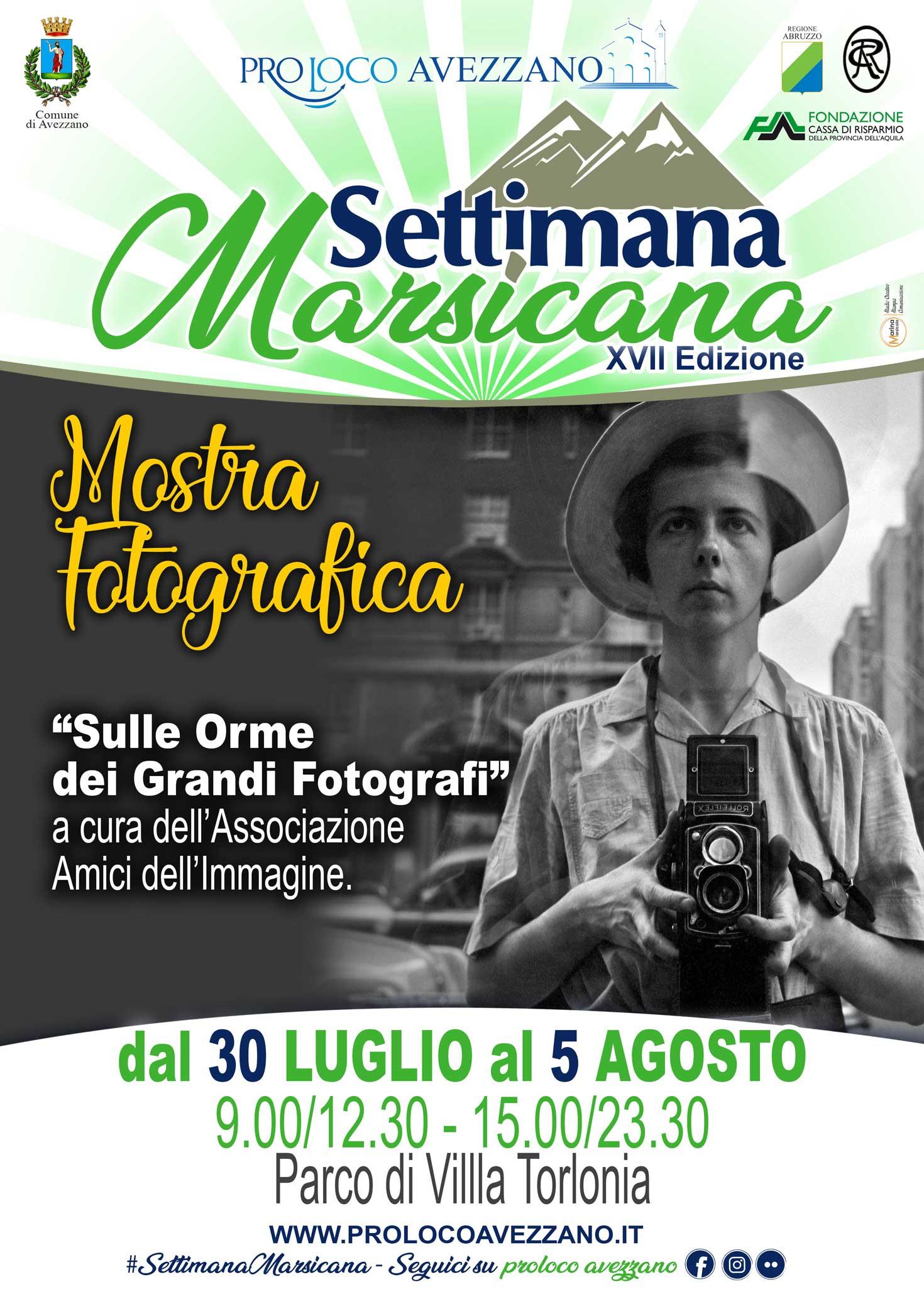 Mostra fotografica, Sulle orme dei grandi fotografi