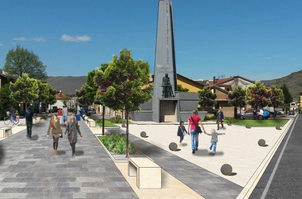 Capistrello, così il Monumento ai Caduti sul Lavoro e l'area circostante cambiano volto