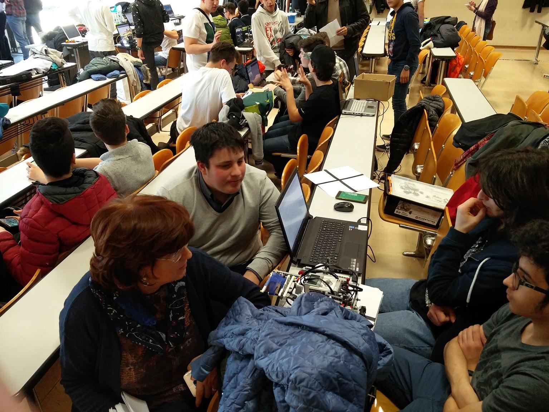 Gli studenti di robotica educatica del Majorana a Roma per l'XI Trofeo internazionale