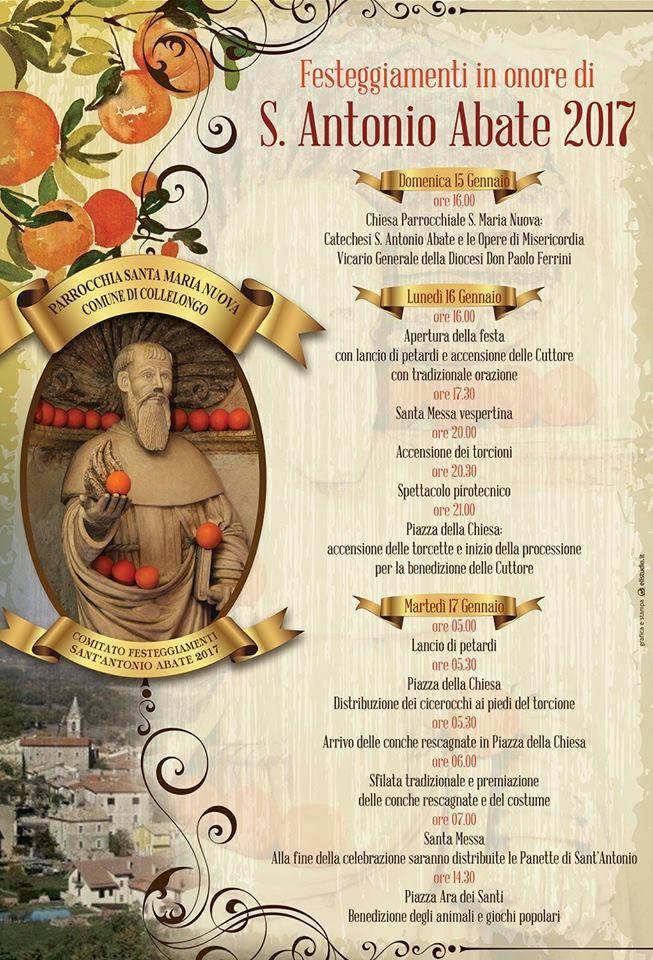 Collelongo, tutto pronto per i festeggiamenti in onore di Sant'Antonio