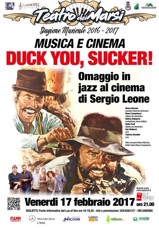 Duck You, sucker / Giù la testa, omaggio in jazz al Cinema di Sergio Leone