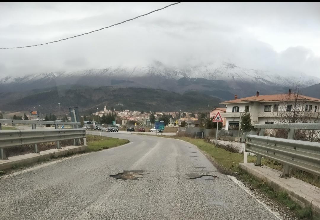 Magliano De' Marsi, strade disastrate a causa della pioggia