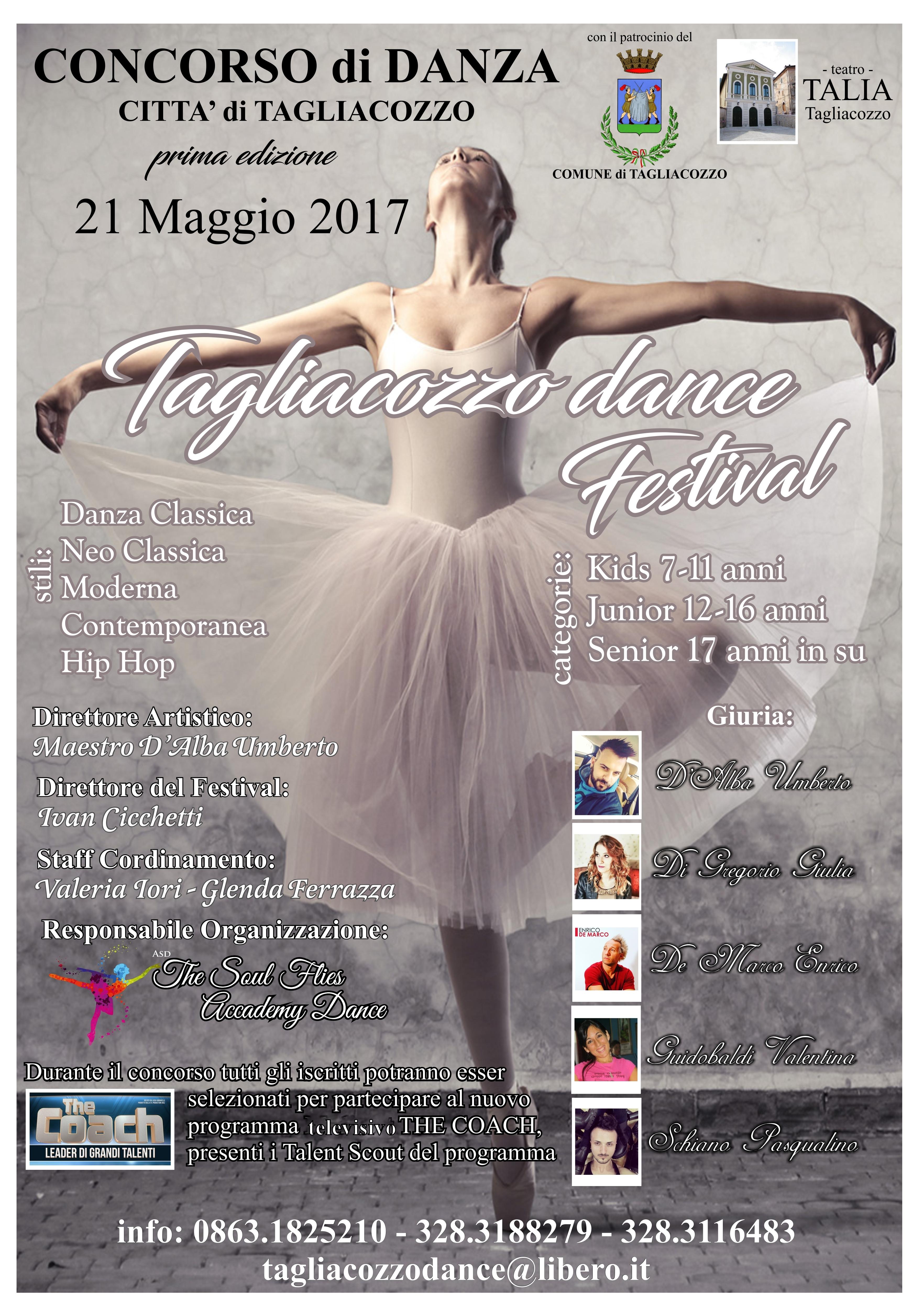 Tagliacozzo, a Maggio concorso nazionale di danza