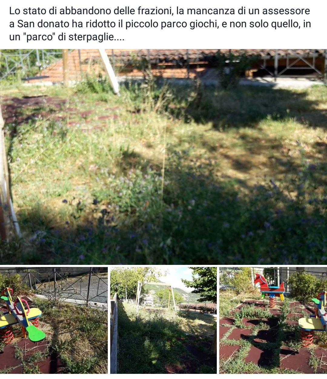 San Donato: degrado parco giochi, polemica in rete