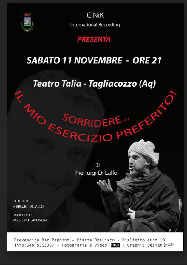 """""""Sorridere … il mio esercizio preferito"""" in scena al Teatro Talia"""