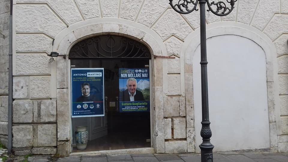 Tagliacozzo, Di Marco Testa inaugura sede Forza Italia