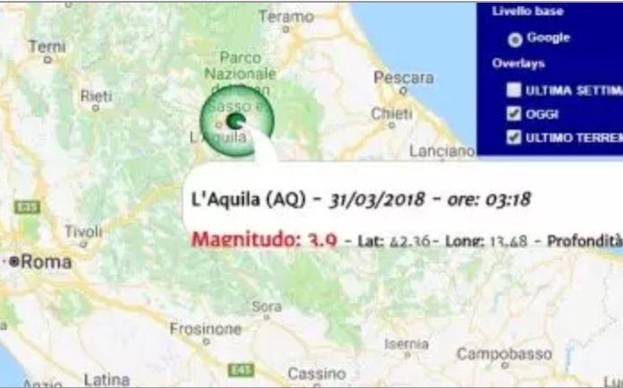 La terra trema ancora: registrate due scosse di terremoto con epicentro nell'aquilano