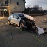 Avezzano, incidente al famoso stop tra via Sant'Andrea e via Paganini, due auto coinvolte