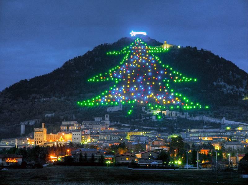 Confesercenti, organizza la visita a Gubbio ad accendere l'Albero di Natale più grande del mondo
