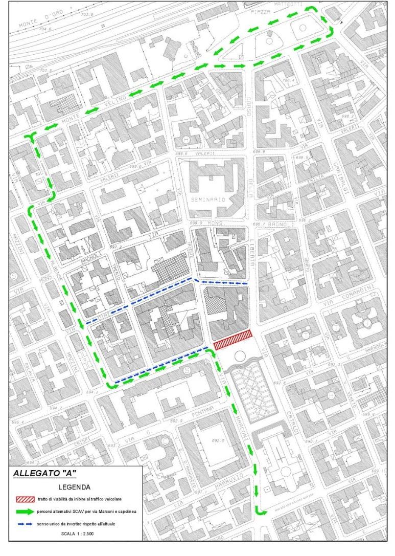 Area pedonale permanete nel cuore della città. Ecco come cambia la viabilità del centro di Avezzano