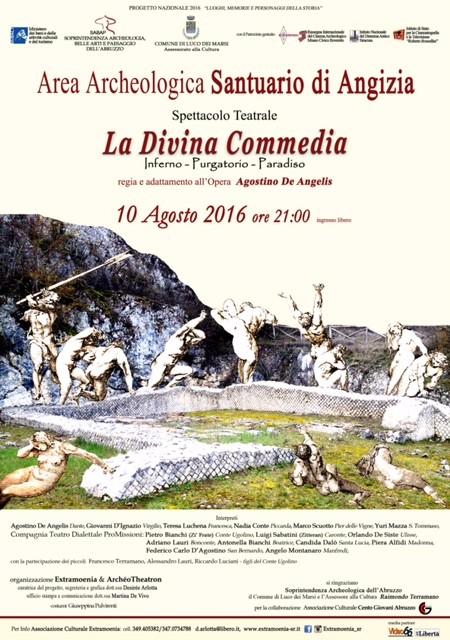 Luco, Il viaggio Dantesco nell'area archeologia di Angizia