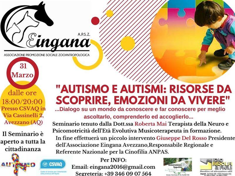 Ad Avezzano un seminario per conoscere il mondo dell'autismo