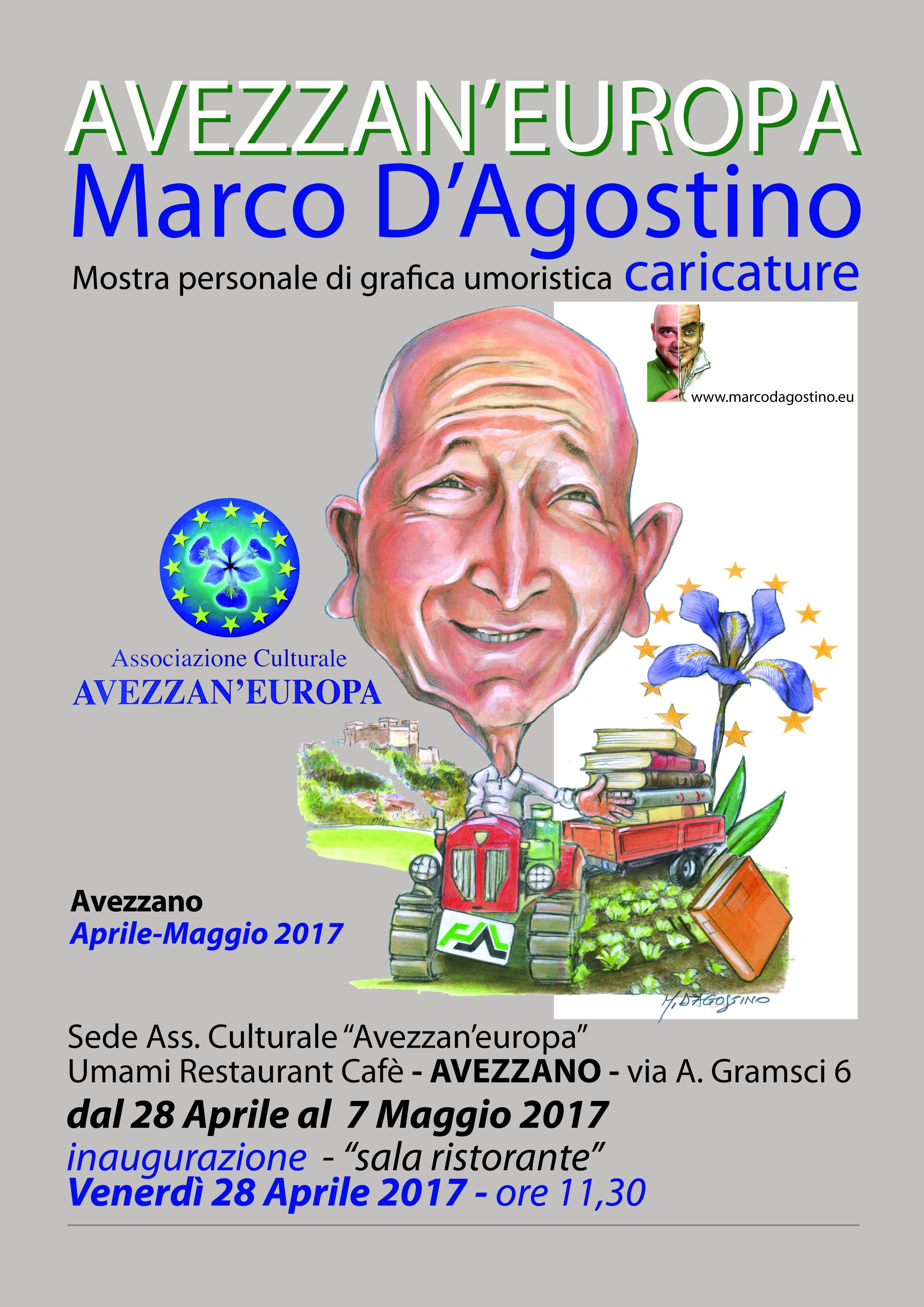 Inaugurata la mostra grafica di Marco D'Agostino su caricature e umoristica
