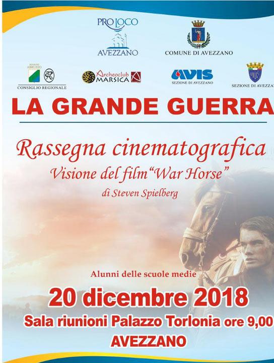 La Pro Loco di Avezzano presenta una rassegna cinematografica sulla Grande Guerra