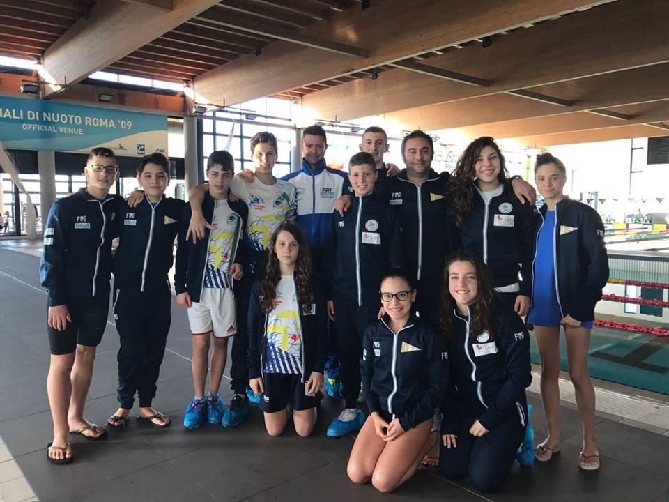 Meeting Roma, ottime performance per l'Avezzano nuoto
