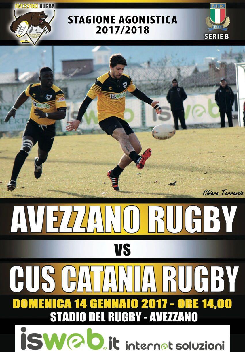 Serie B: Fondamentale partita in casa per L'Avezzano Rugby contro il Catania