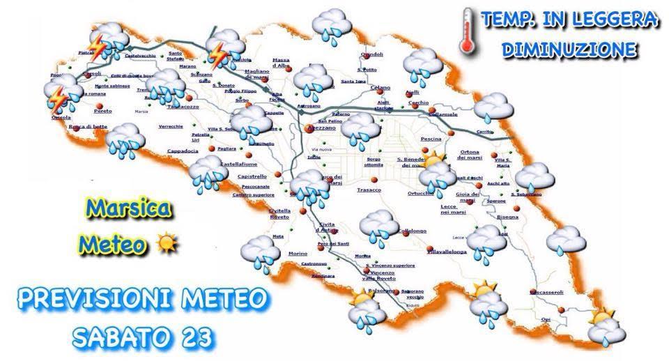 Meteo Marsica: peggioramento in arrivo nel week end