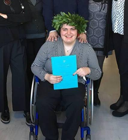 LA STORIA/ «Mi dicevano 'Non ce la farai mai' e invece ecco la mia laurea specialistica». Beatrice Palluzzi si racconta: «Sono disabile e ora sono una psicologa»