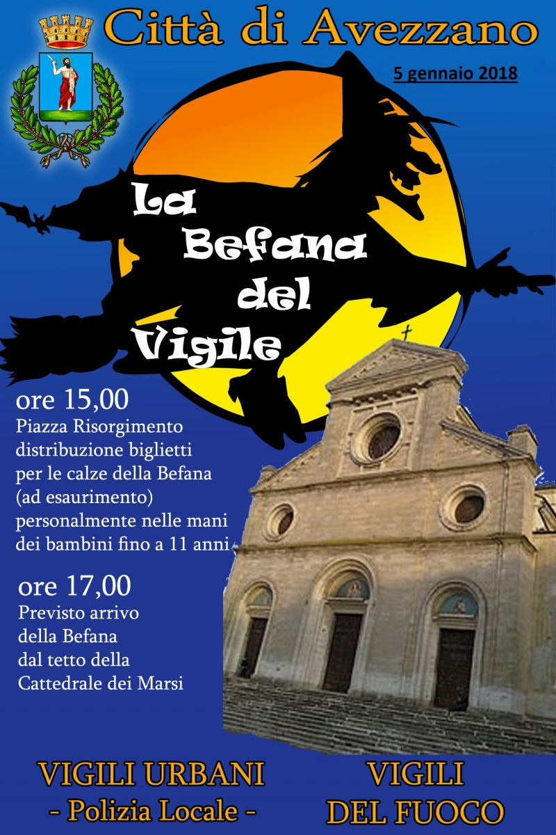 Torna la Befana del Vigile, appuntamento domani in piazza Risorgimento
