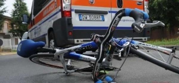 Ciclista impatta contro una mucca, trasportato all'ospedale aquilano