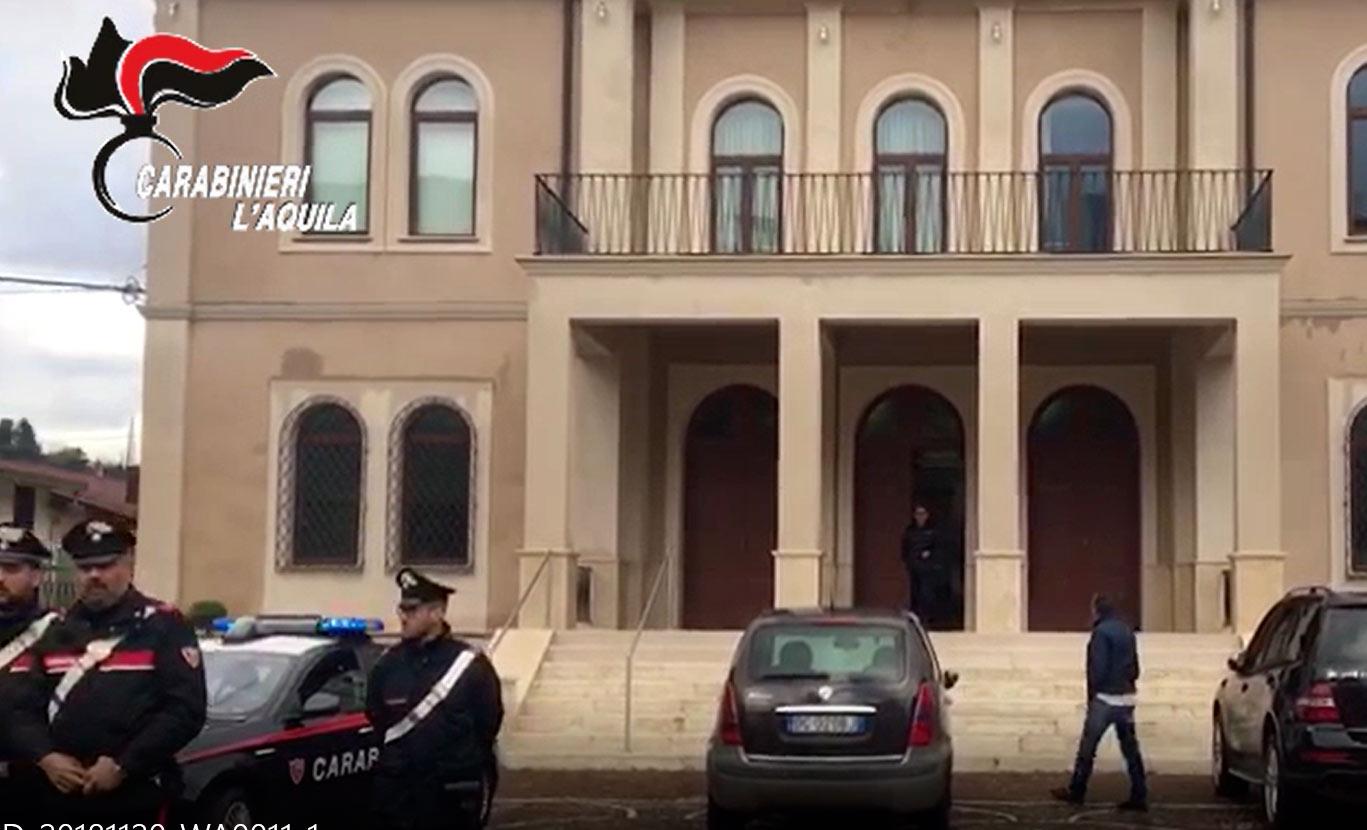 Arresti e indagini attività amministrativa comune di Capistrello, i dettagli dell'operazione