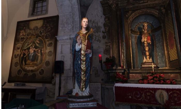 """La statua di San Cesidio, replicata in 3D, nella mostra """"Festival dell'artigianato e dell'arte digitale"""""""