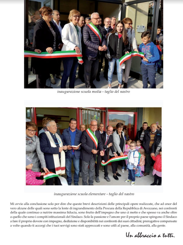 """Il saluto dell'ex-sindaco Ciciotti """"ecco cosa ho fatto in questi quarantatré mesi con impegno nei confronti della nostra comunità"""""""