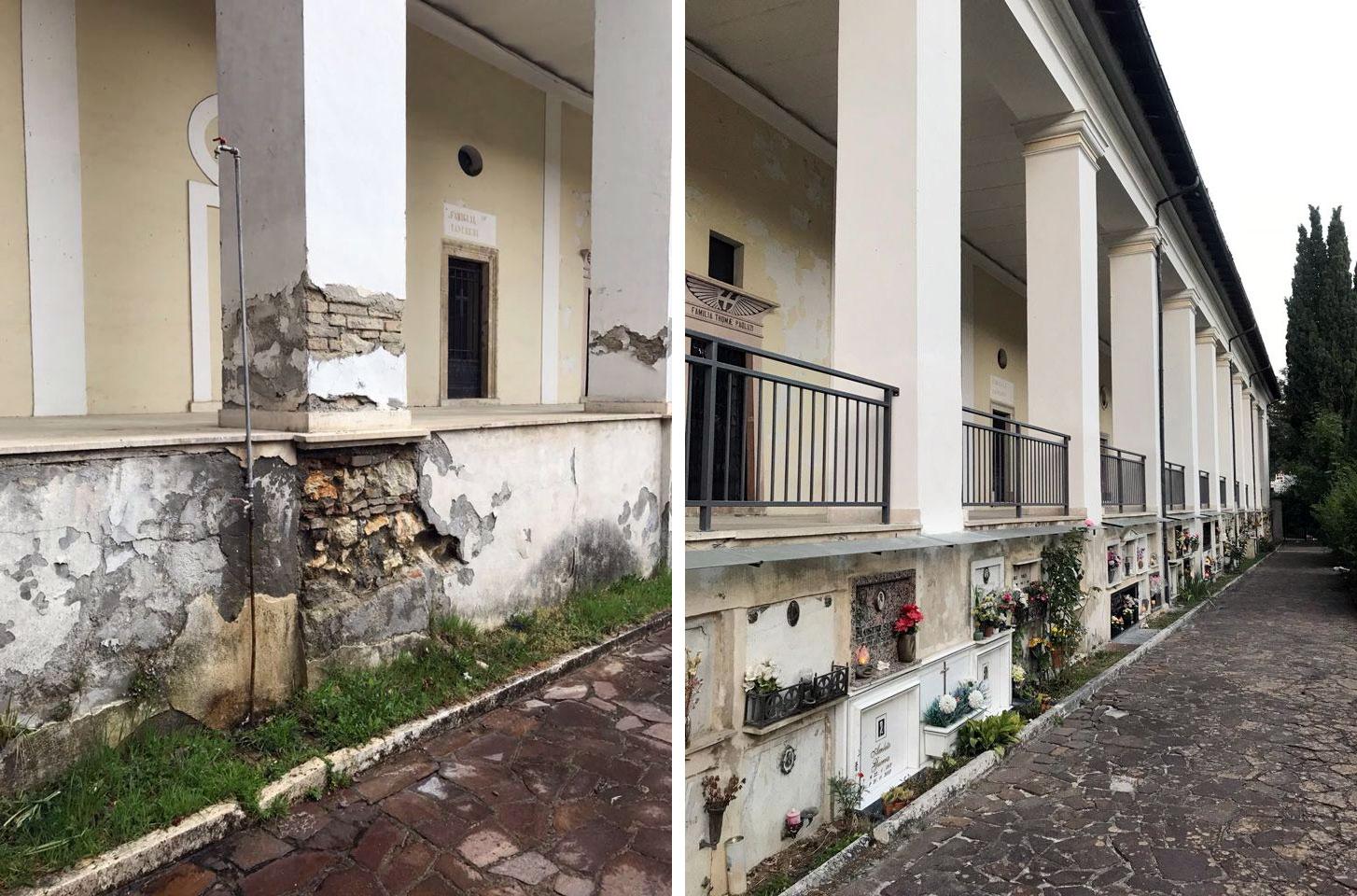 Conclusi i lavori ai cimiteri di Tagliacozzo e Sorbo